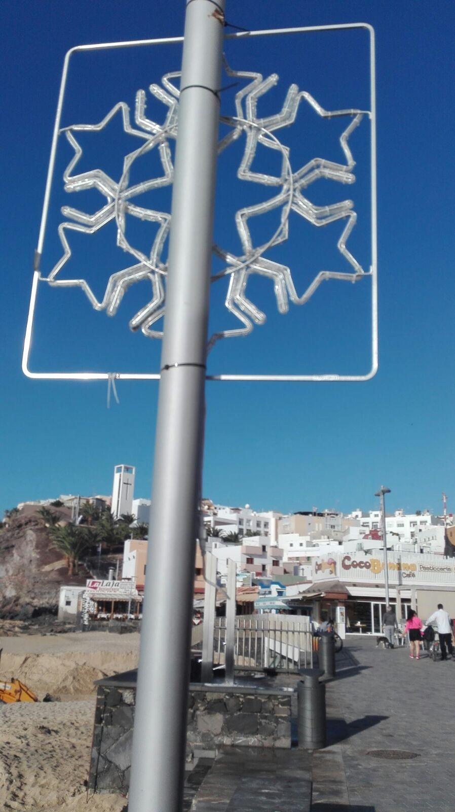 El Ayuntamiento de Pájara lamenta los actos vandálicos cometidos contra la iluminación navideña de Morro Jable
