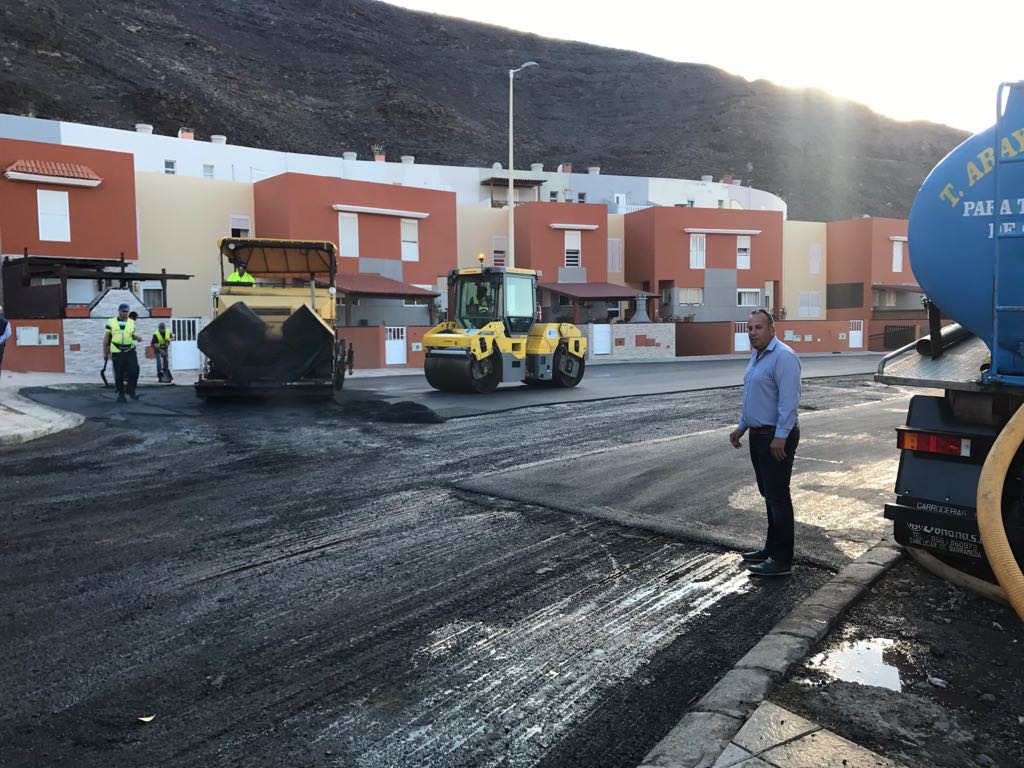 Pájara pone en marcha en Morro Jable la primera fase del Plan de asfaltado