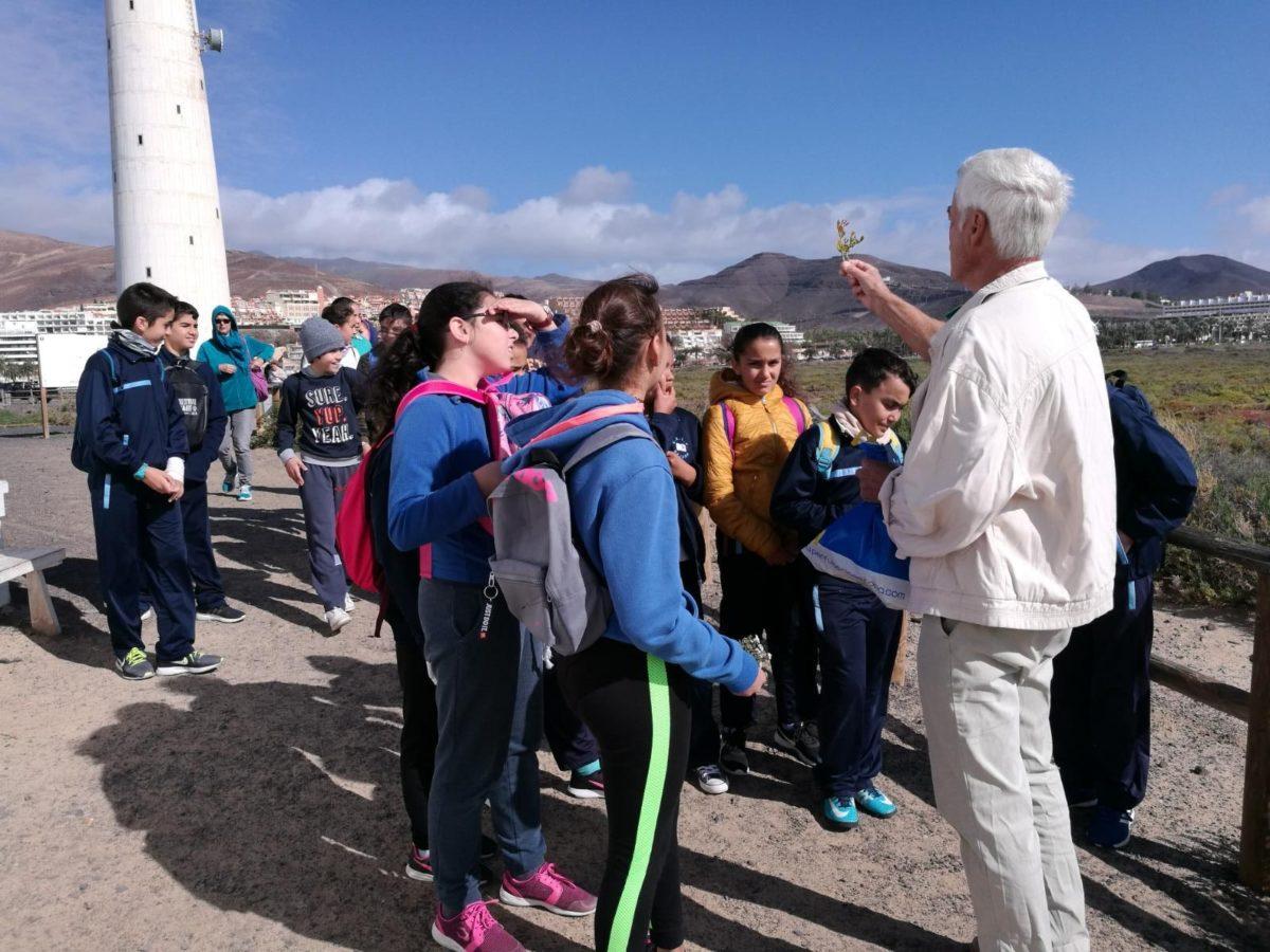 Los escolares del municipio de Pájara continúan visitando el Saladar de Jandía con motivo del Día de los Humedales