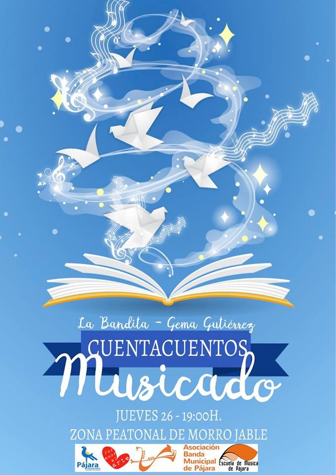 La narradora Gema Gutiérrez y la Bandita de Pájara actúan mañana, 26 de abril, en la zona peatonal de Morro Jable