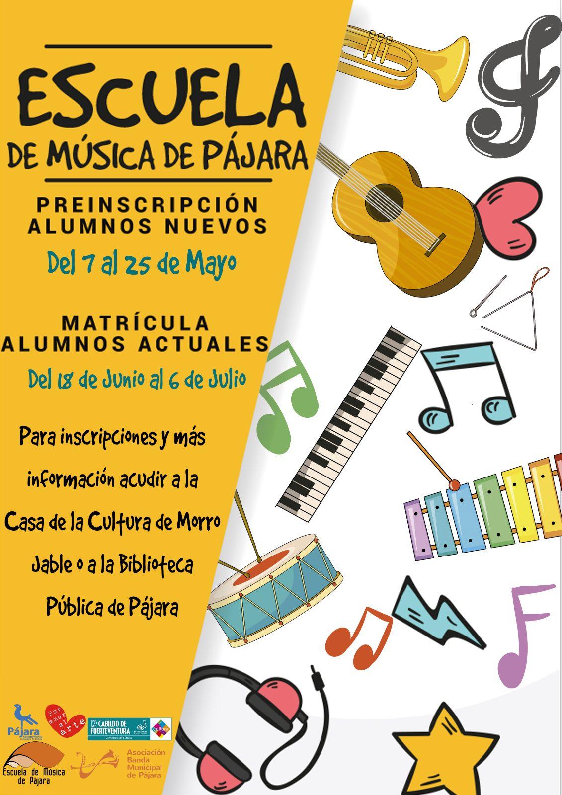 La Escuela de Música de Pájara abre el plazo de preinscripción de nuevos alumnos este lunes, 7 de mayo