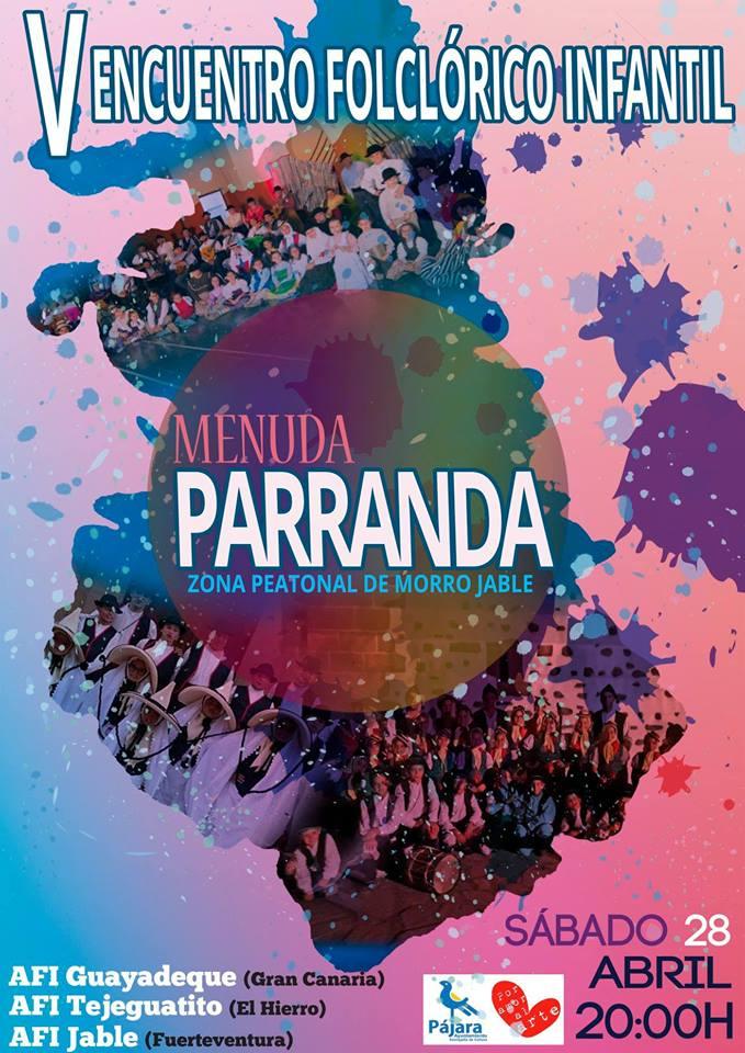 Agrupaciones folclóricas infantiles de Fuerteventura, Gran Canaria y El Hierro actúan en el V Encuentro 'Menuda Parranda'