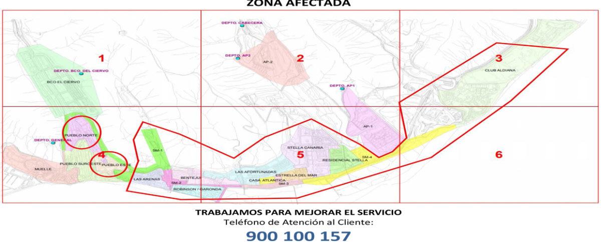 ANUNCIO: Corte suministro agua por enganche nueva tubería Red General de Abastecimiento