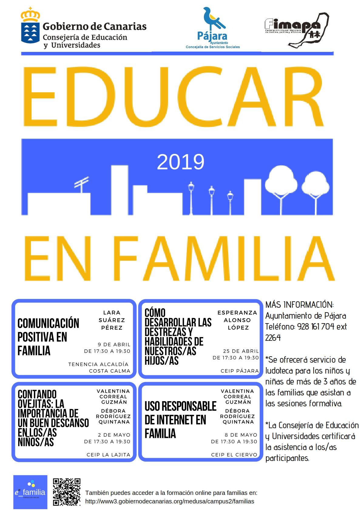 """Da comienzo en Pájara la nueva edición del programa """"Educar en familia 2019"""""""