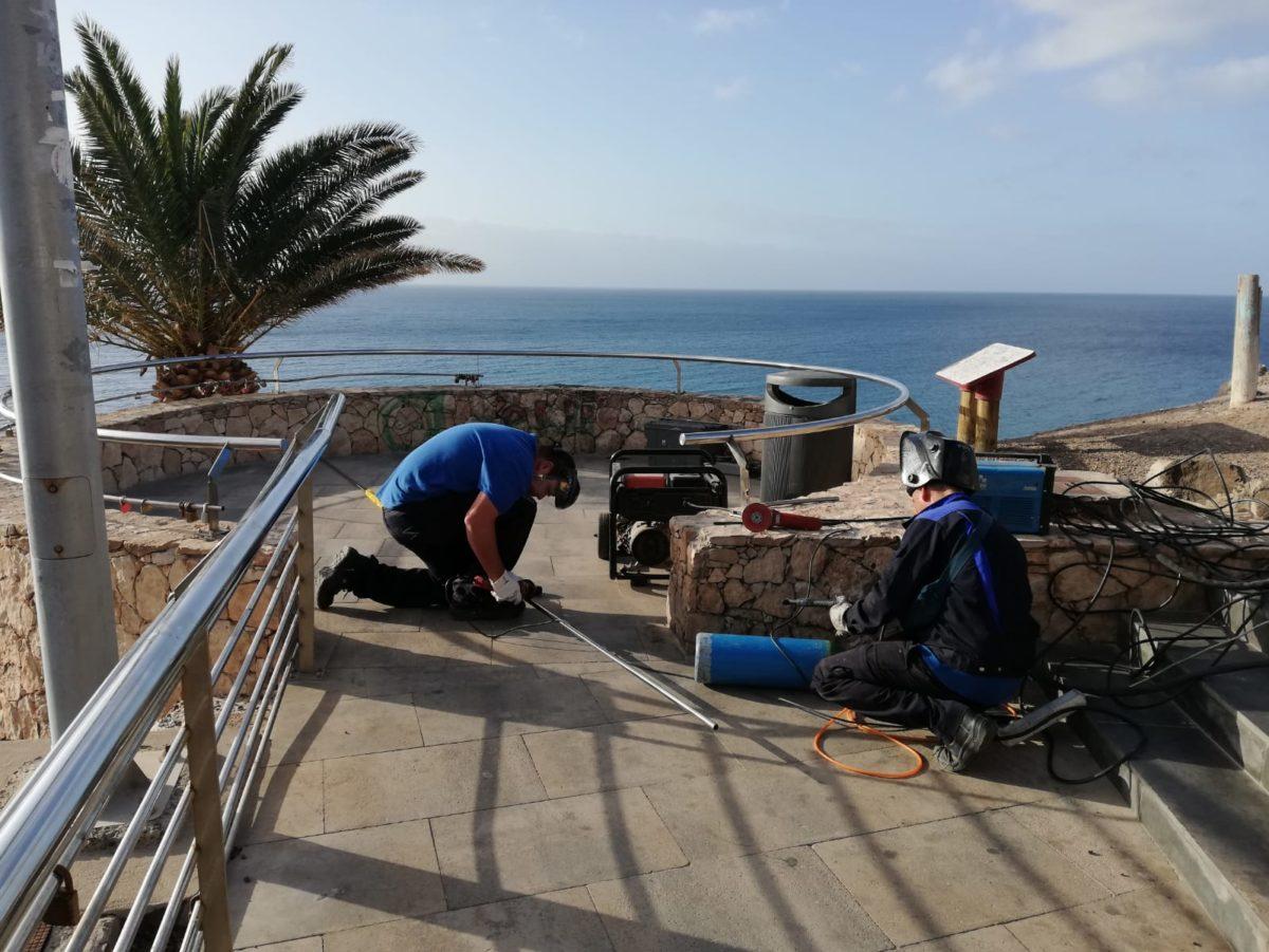 Culmina la renovación del vallado en el Casco Viejo de Morro Jable
