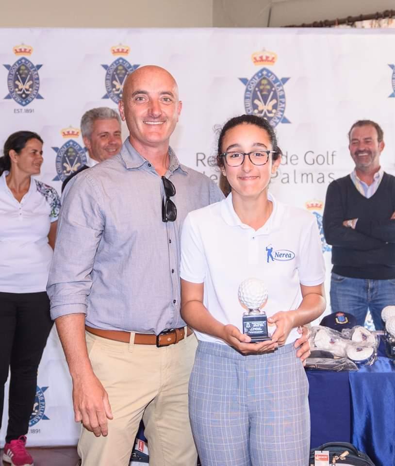El Ayuntamiento de Pájara felicita a Nerea Garrido por el triunfo obtenido en el Campeonato de Las Palmas de Golf en Categoría Alevín