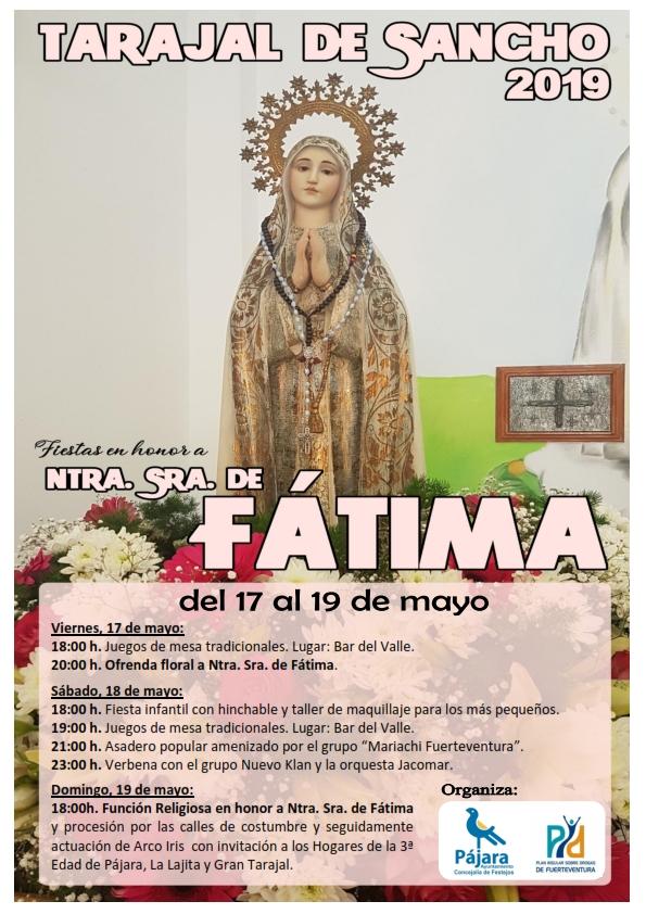 Fiestas en Honor a Ntra. Sra. de Fátima, Tarajal de Sancho 2019