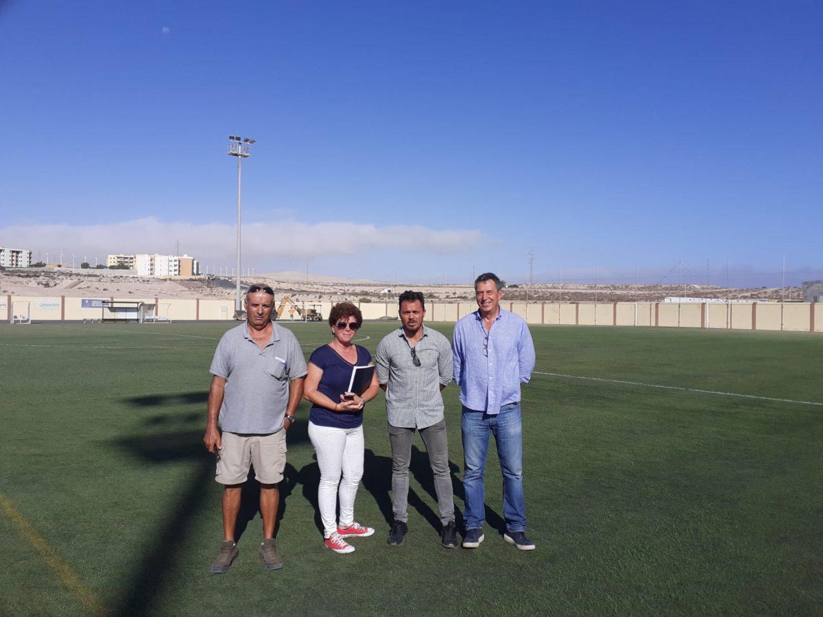El Ayuntamiento de Pájara inicia las obras de la pista de atletismo de Costa Calma