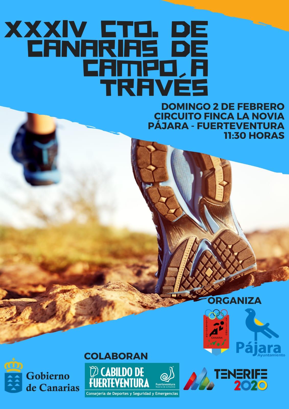Cerca de 300 atletas se darán cita en el XXXIV Campeonato de Canarias de Campo a Través que se celebrará en Pájara