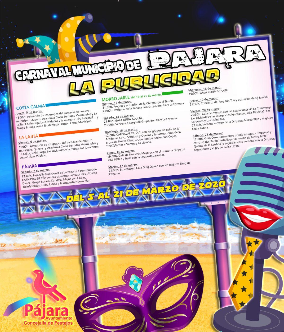 Los carnavales de Pájara arrancarán con el tradicional pasacalle de carrozas