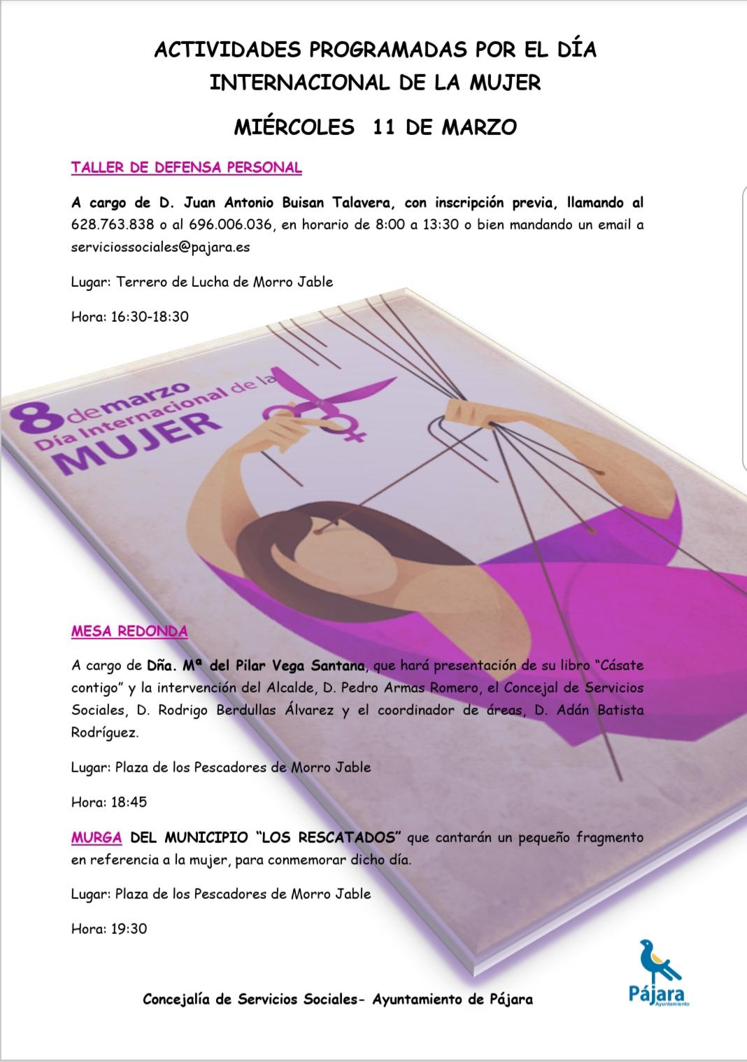 Actividades por el día Internacional de la Mujer