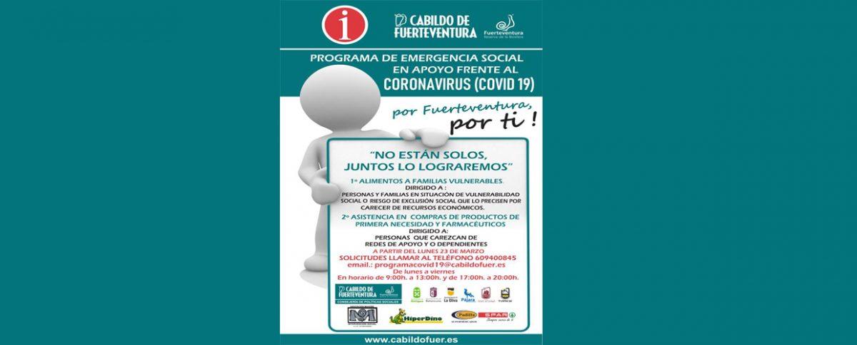 Programa de emergencia social en apoyo frente al Coronavirus (COVID 19)