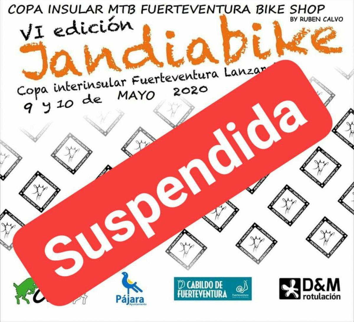 Suspendida definitivamente la celebración de la 'VI Jandiabike'