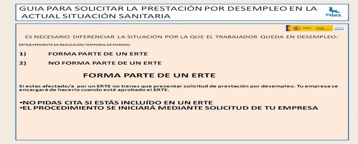 Guía para solicitar la prestación por desempleo en la actual situación sanitaria
