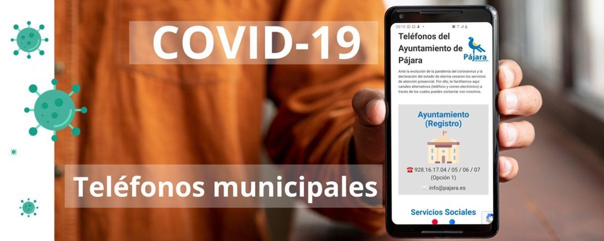 COVID – 19 – Teléfonos del Ayuntamiento de Pájara