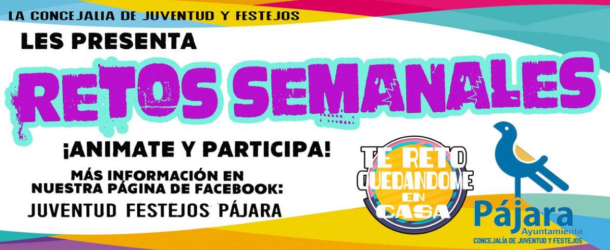 La Concejalía de Juventud y Festejos les presenta RETOS SEMANALES