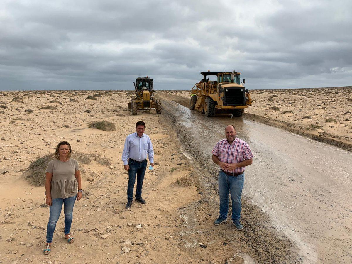 Continúan las labores de adecuación de la carretera entre Morro Jable, Cofete y Punta de Jandía