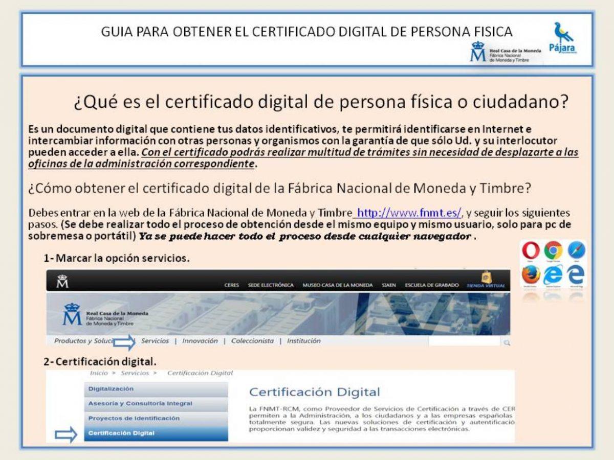 Guía para obtener el certificado digital de persona física