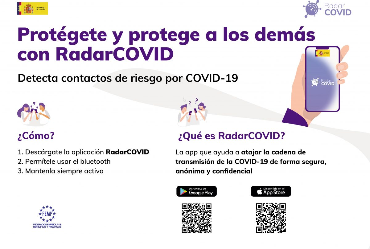 Protégete y protege a los demás con la aplicación móvil Radar COVID