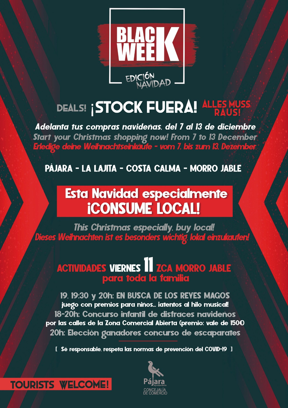 Pájara celebra la Black Week para promover el consumo local estas fiestas