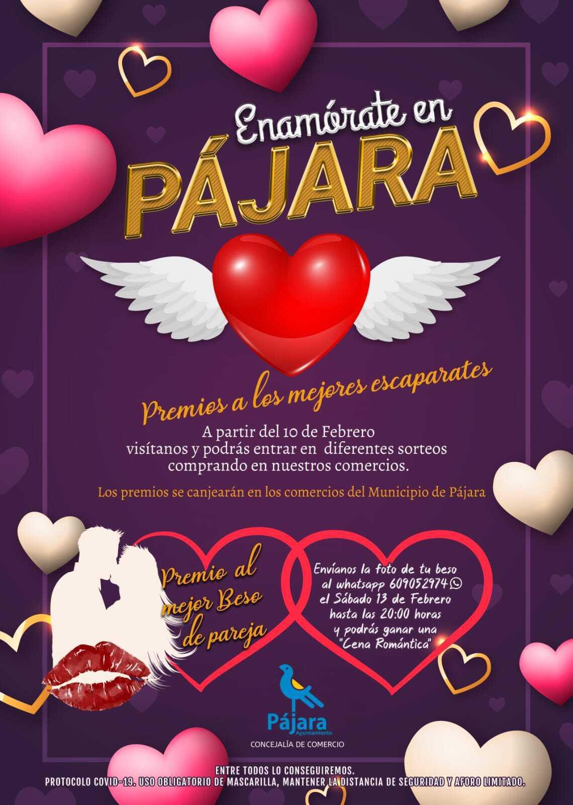 Pájara organiza dos concursos para potenciar la actividad comercial con motivo de San Valentín