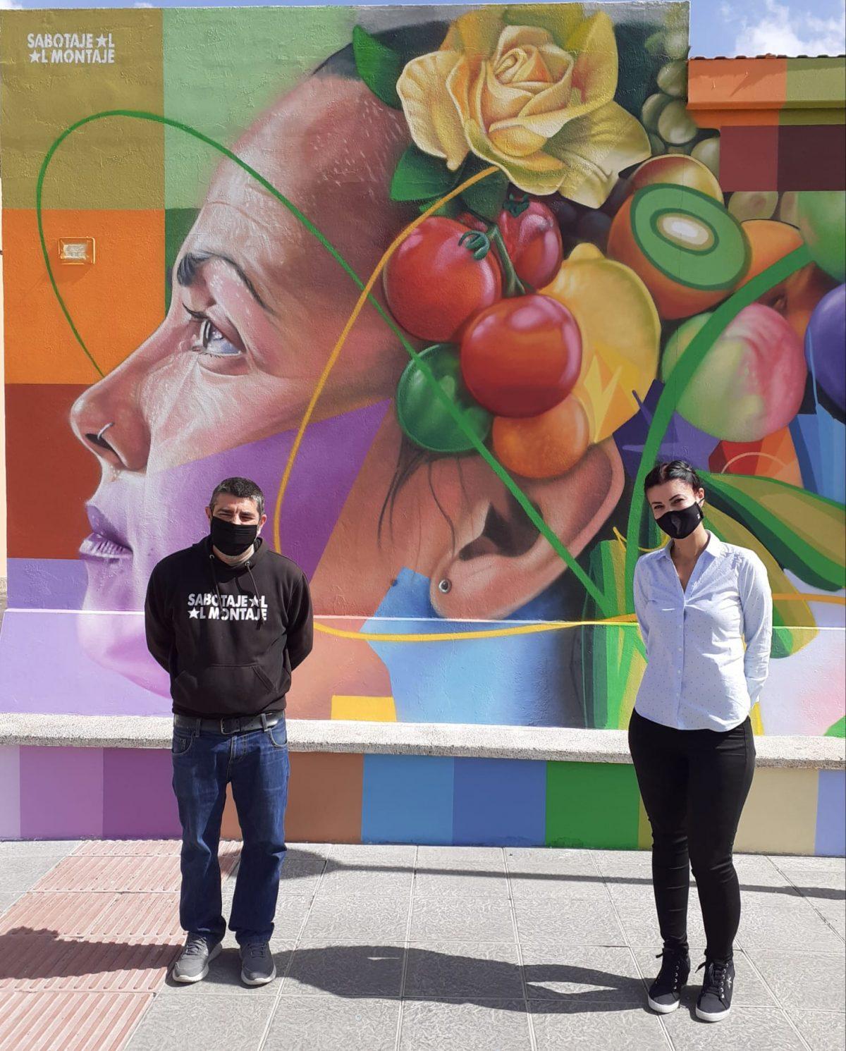 Pájara embellece el Mercado Municipal de Abastos de Morro Jable con un mural de 148 metros cuadrados