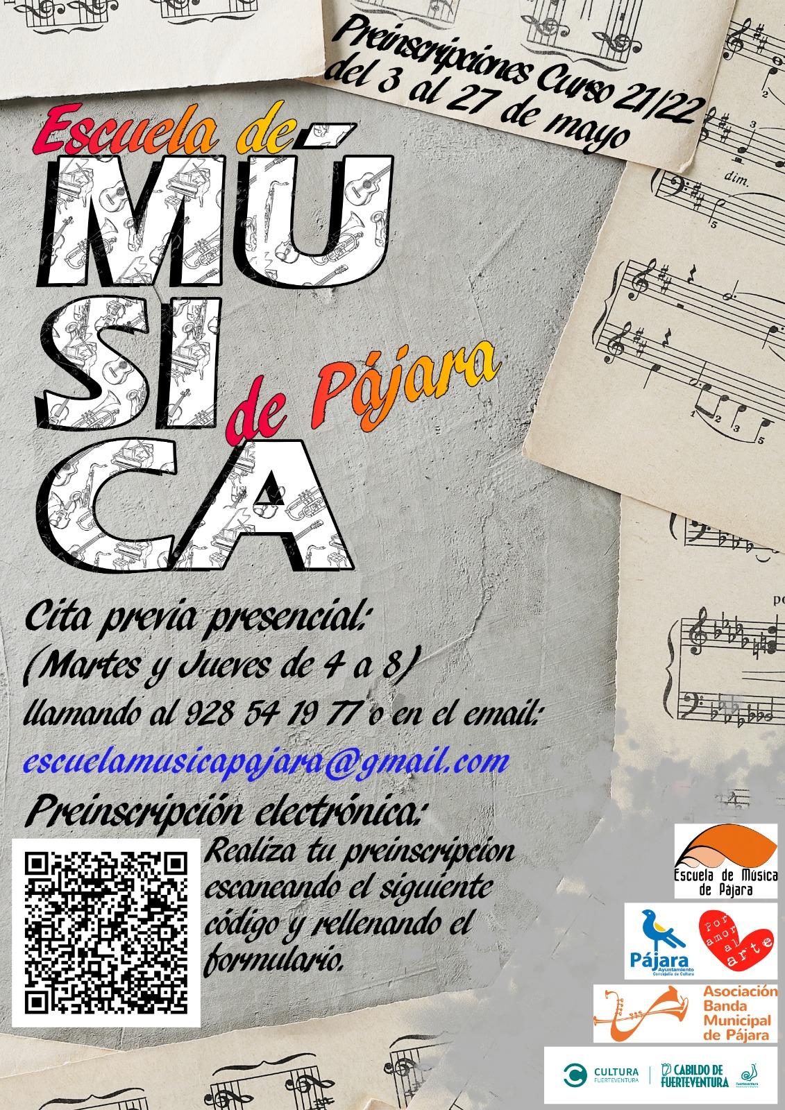 La Escuela de Música de Pájara abre el plazo de preinscripción para nuevos alumnos