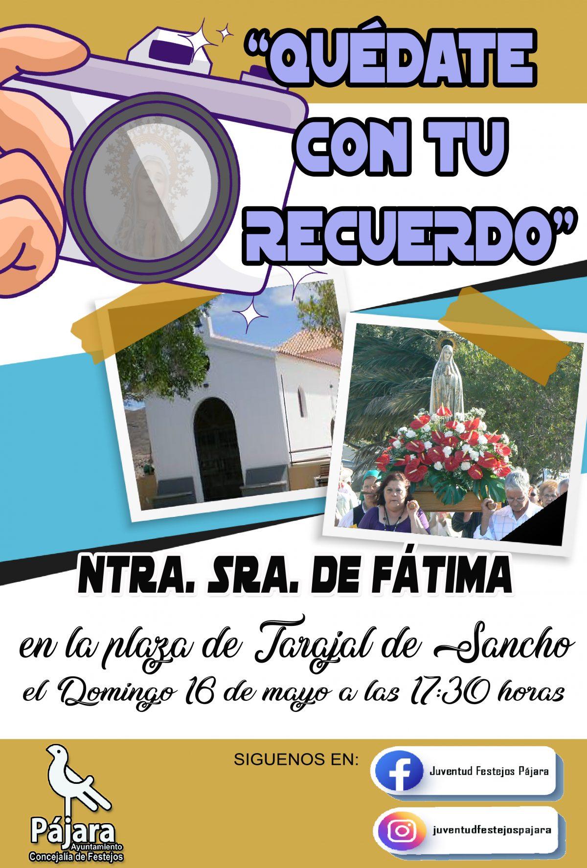'Pronto volveremos a lo nuestro', vídeo de la conmemoración de Ntra. Sra. de Fátima 2021