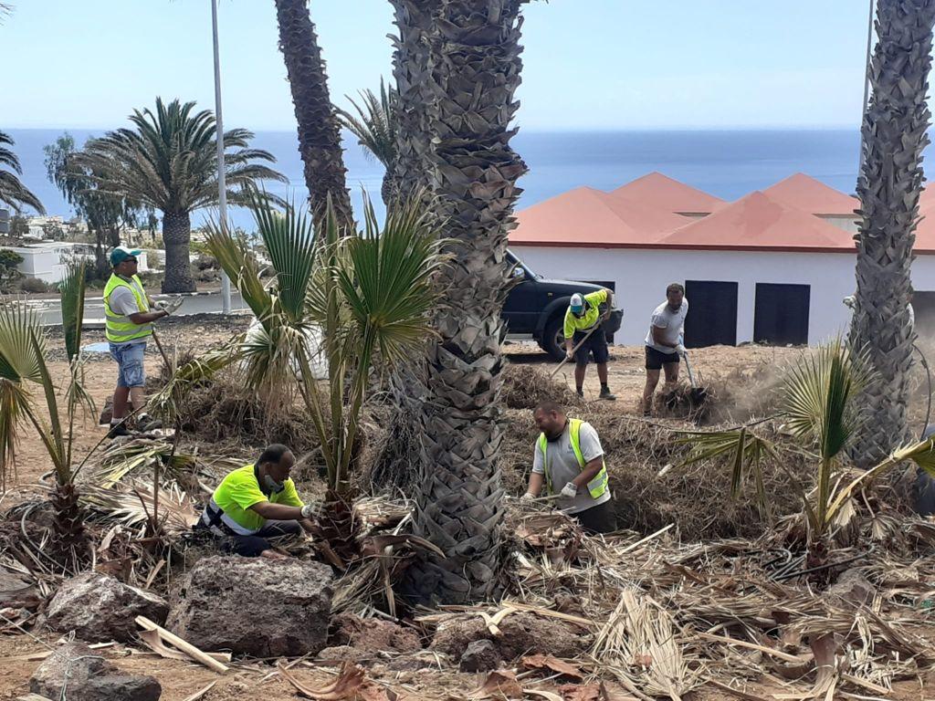Pájara lleva a cabo obras de limpieza y acondicionamiento en Esquinzo