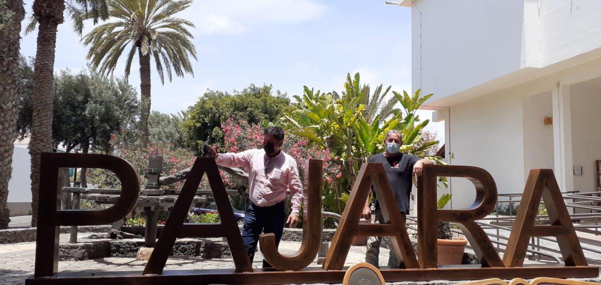 Pájara continúa la instalación de letreros en los pueblos del municipio