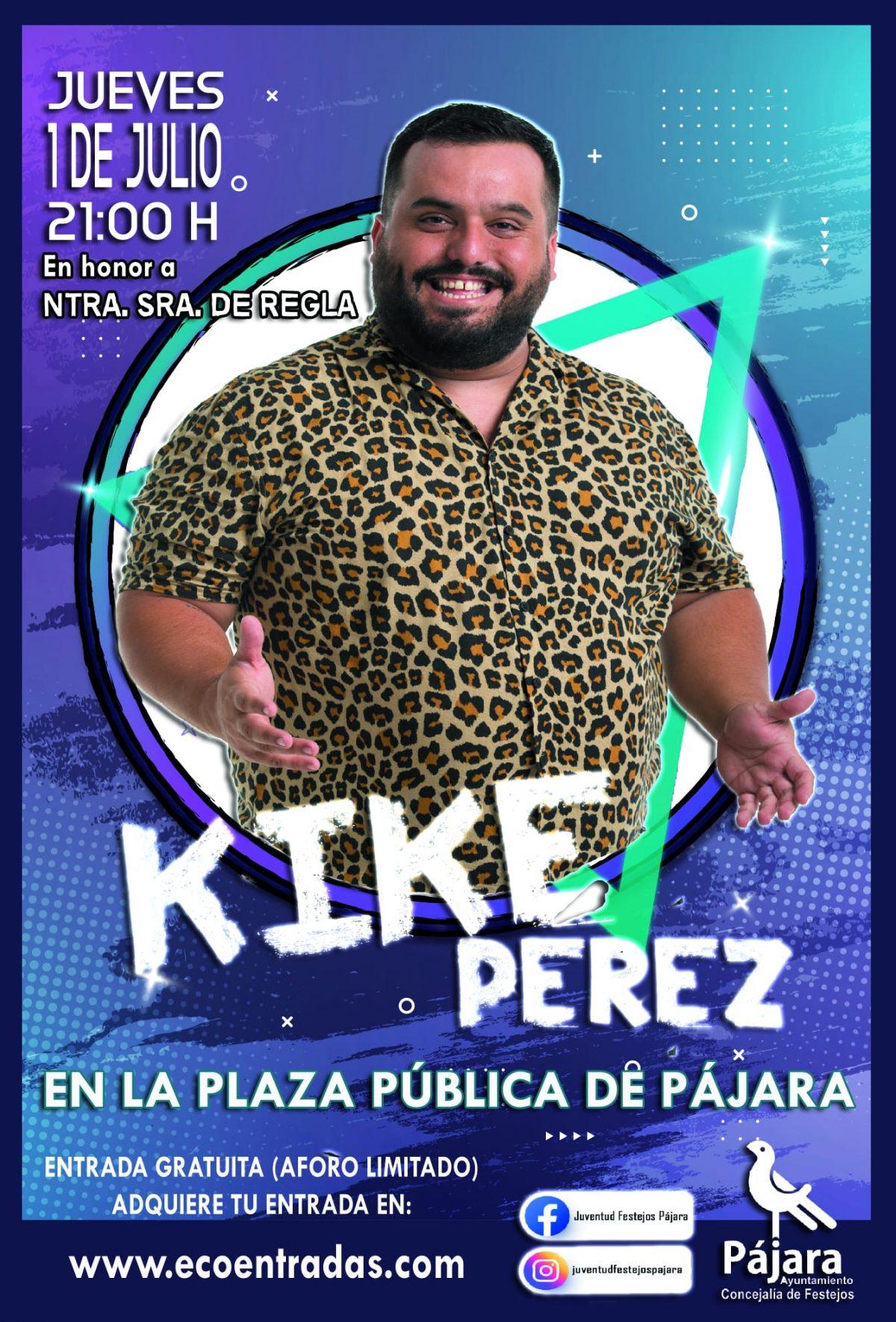 El humorista Kike Pérez actuará en la fiesta en Honor a Ntra. Sra. de Regla en la localidad de Pájara
