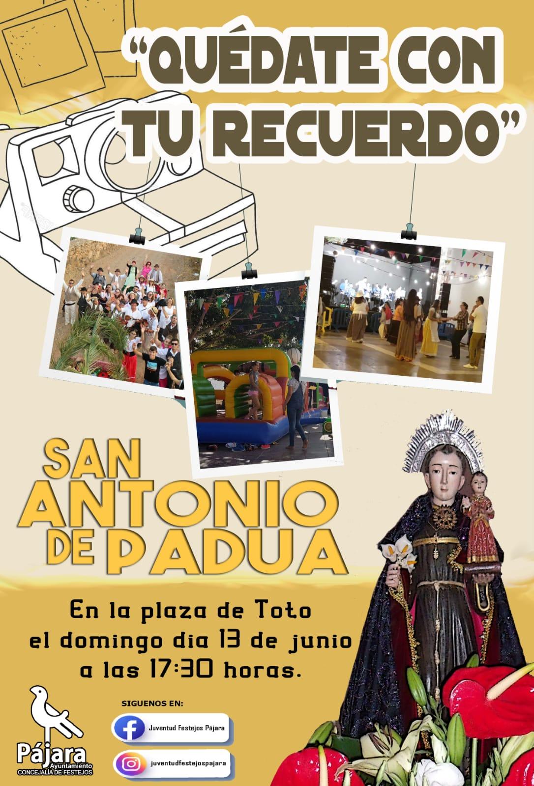'Pronto volveremos a lo nuestro', vídeo de la conmemoración de las fiestas de San Antonio de Padua de Toto