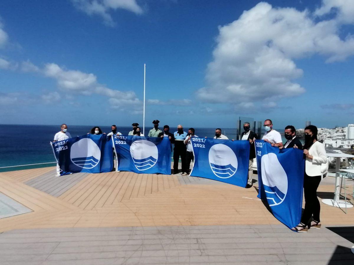 Pájara iza la bandera azul de las cuatro playas que revalidan esta distinción en 2021