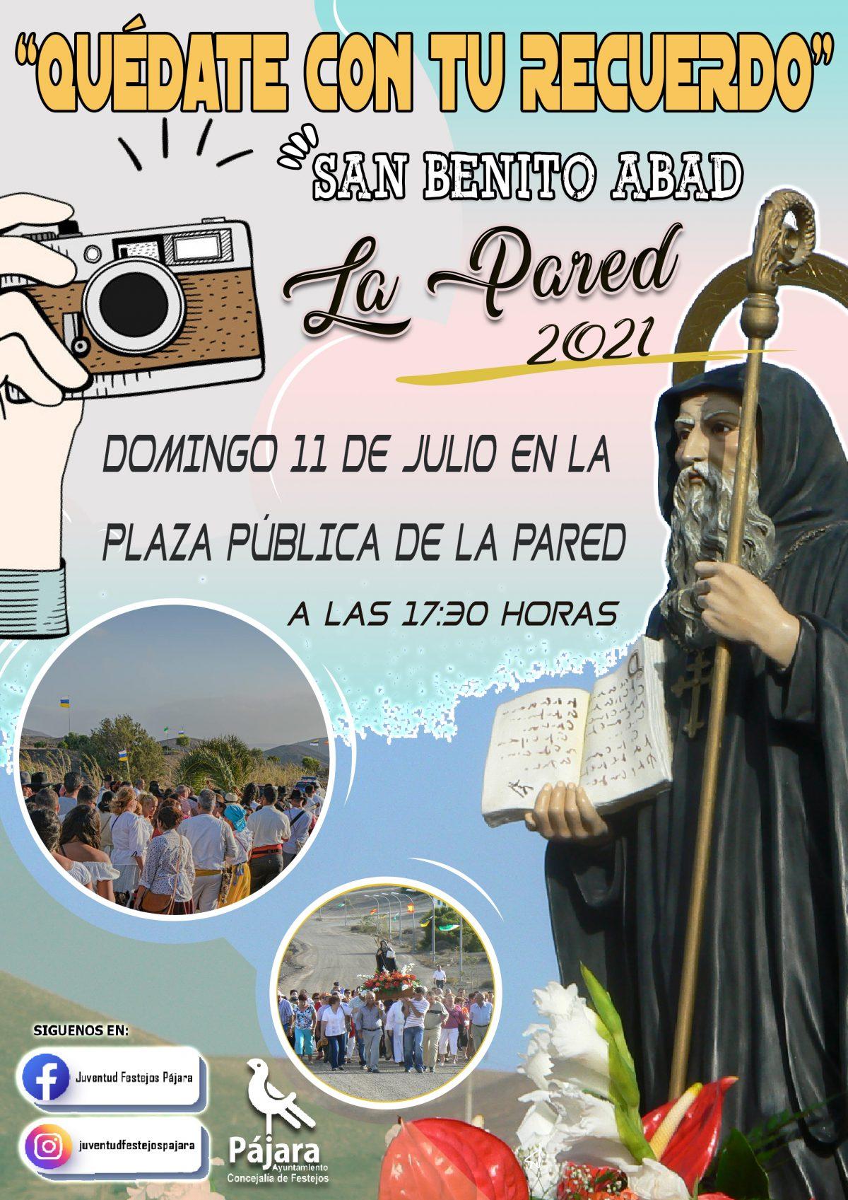 'Quédate con tu recuerdo' por el Día de San Benito Abad de La Pared 2021