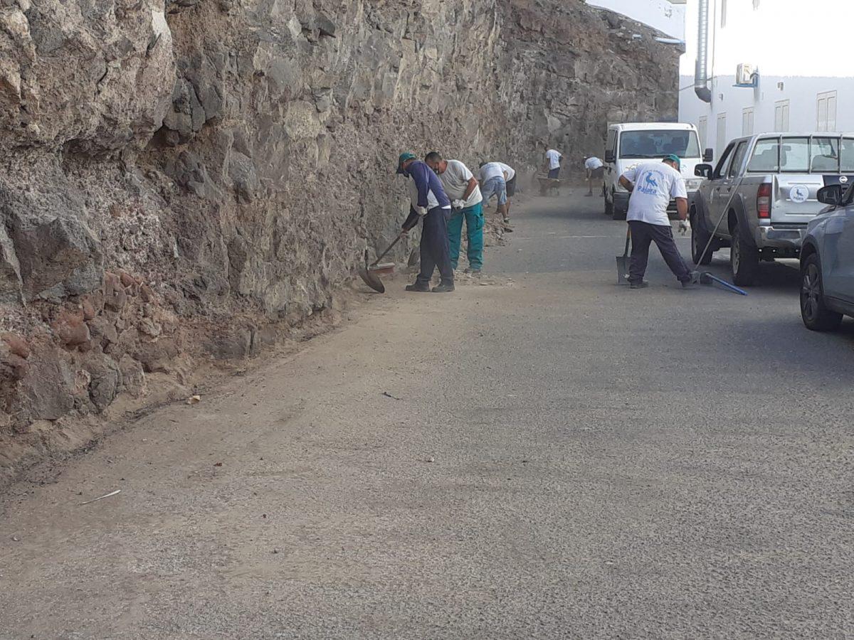 El Ayuntamiento lleva a cabo obras de limpieza y acondicionamiento en Morro Jable