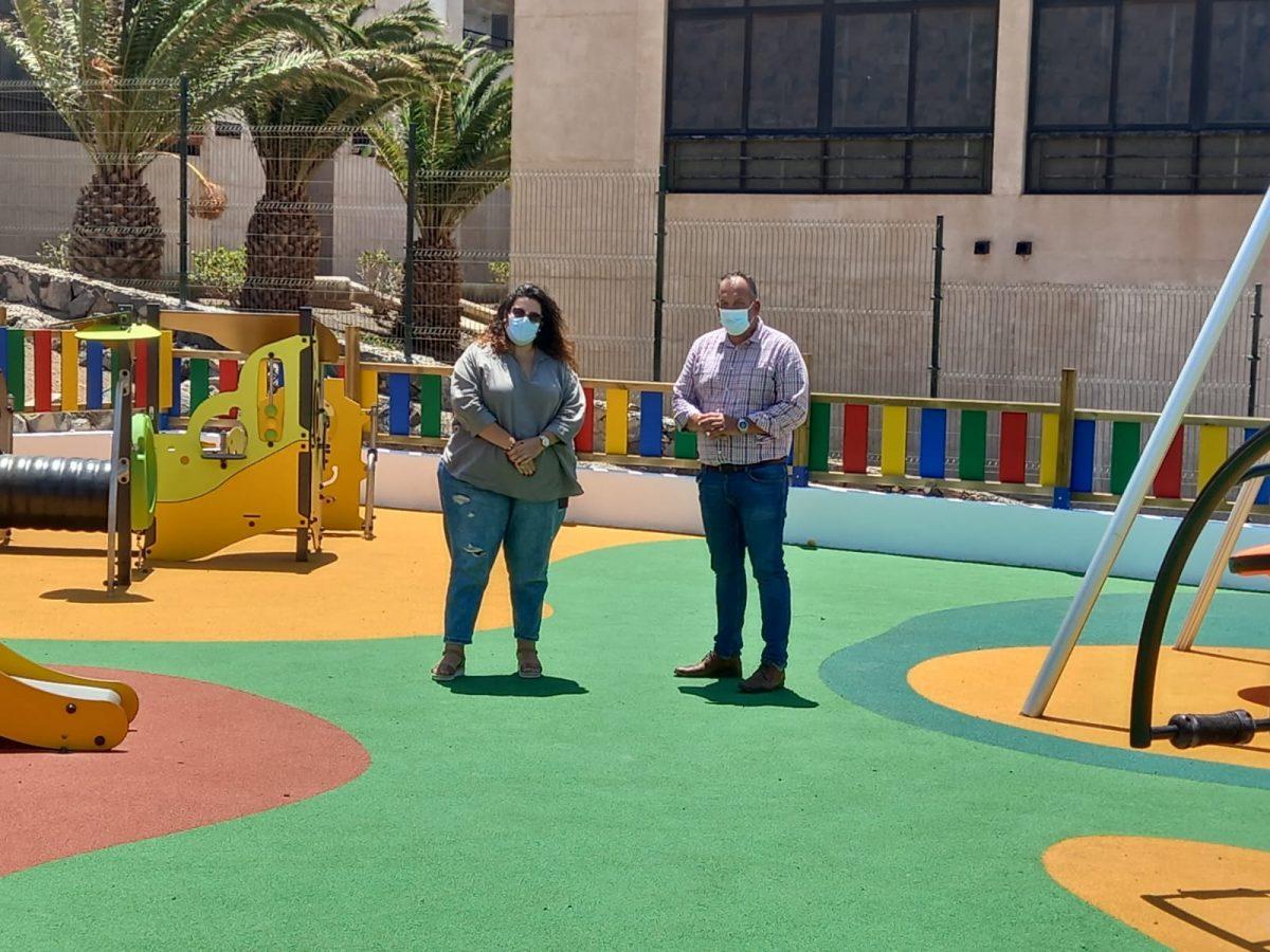 Pájara finaliza las obras del parque infantil del Barranco del Ciervo
