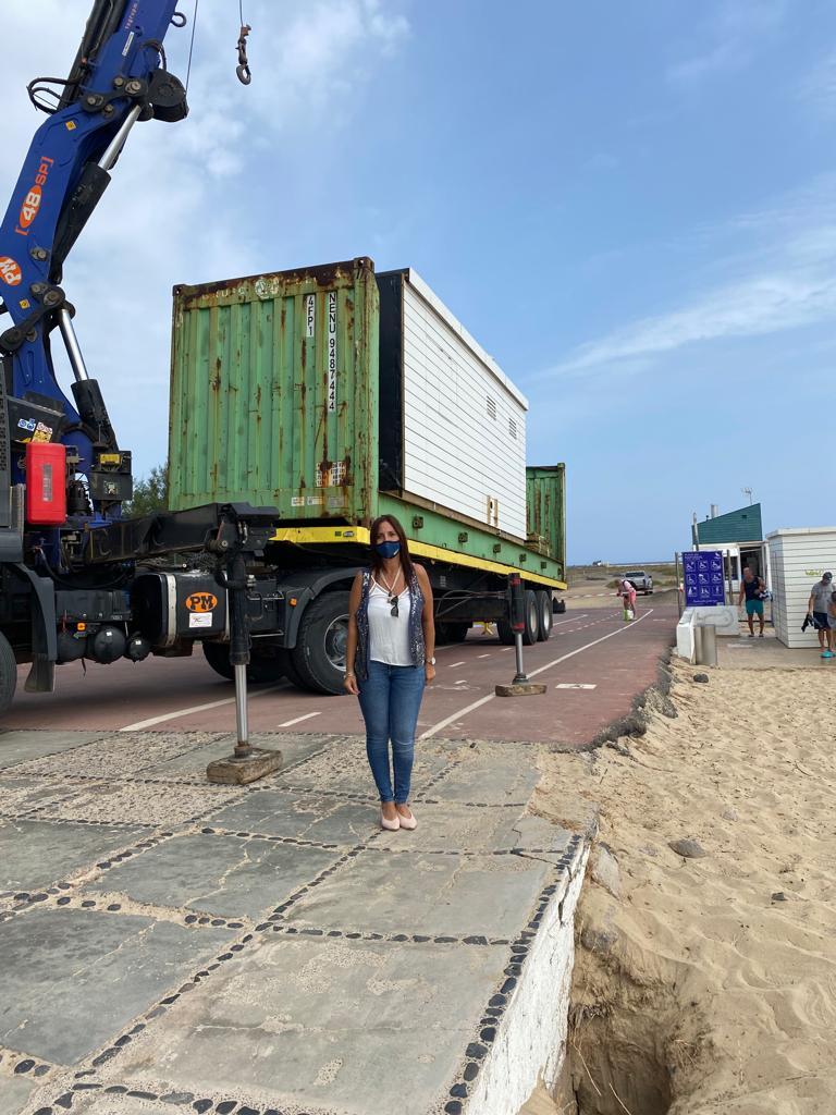 Pájara lleva a cabo obras de mejora de las instalaciones y servicios de las playas del municipio