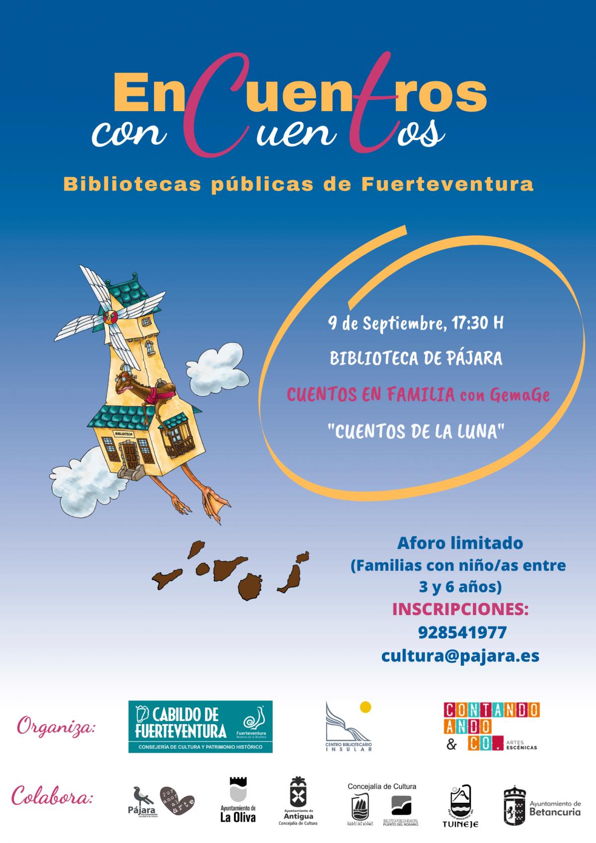 La biblioteca municipal de Pájara acoge 'Encuentros con Cuentos'