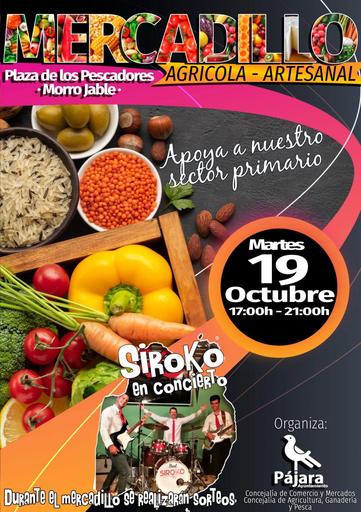 Pájara realiza una nueva edición del tradicional Mercadillo Agrícola y Artesanal de Morro Jable